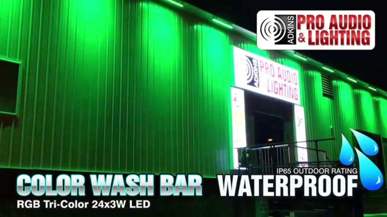 adkins professional lighting color wash bar rgb 24x3w led ip65