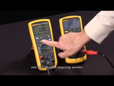 isolationswiderstandsmessung mit dem isolations multimeter fluke 1587 youtube. Black Bedroom Furniture Sets. Home Design Ideas