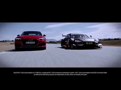 Audi RS5 and RS5 DTM track action