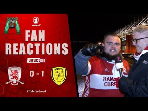 YOU ARE A ******* EMBARRASSMENT!! | FAN REACTIONS | Middlesbrough 0 Burton Albion 1