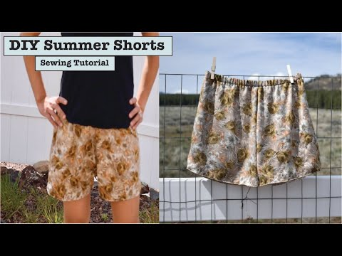 DIY Summer Shorts | Sewing Tutorial