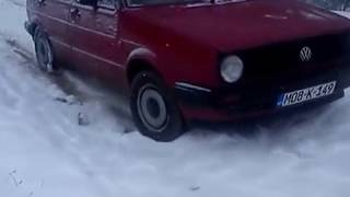 vw golf 2 in snow