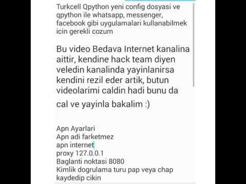 Turkcell bedava internet, turkcell openvpn, turkcell config, turkcell http injector, turkcell bedava