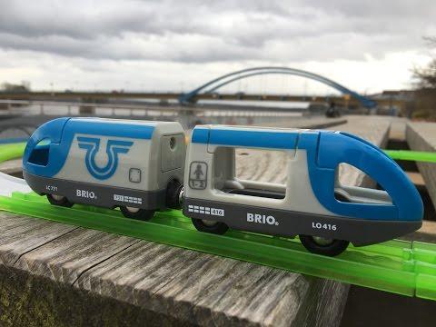 Brio 33506,Travel Battery Train, visit Oderpromenade nördlich der Brücke, Frankfurt Oder  (00994)
