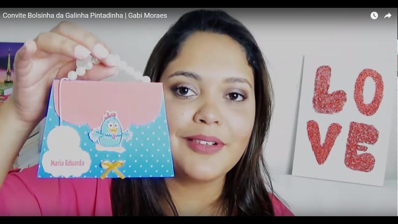 Convite personalizado Galinha Pintadinha bolsinha Gabi
