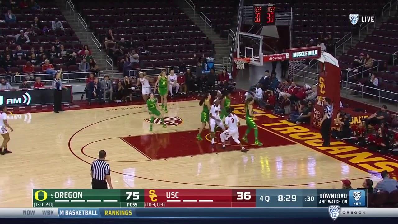 Women S Basketball Highlights Usc 53 Oregon 93