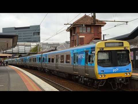 Trains at the new Footscray station - Melbourne Transport