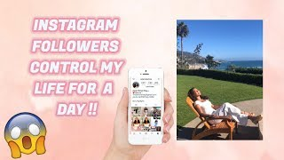 I LET MY INSTAGRAM FOLLOWERS CONTROL MY LIFE FOR A DAY ?!! ||Asia Monet