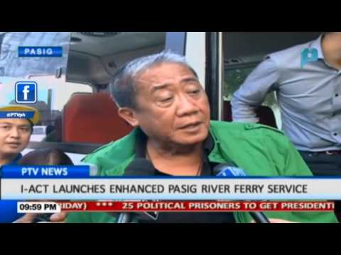 I-ACT launches enhanced Pasig River Ferry Service