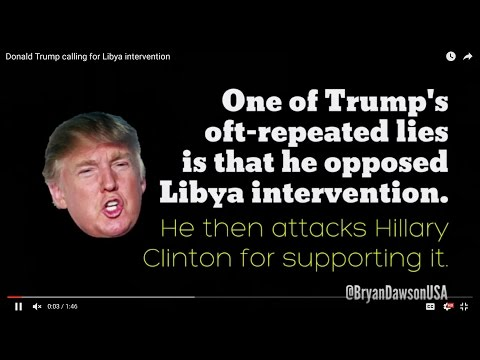 Donald Trump calling for Libya intervention