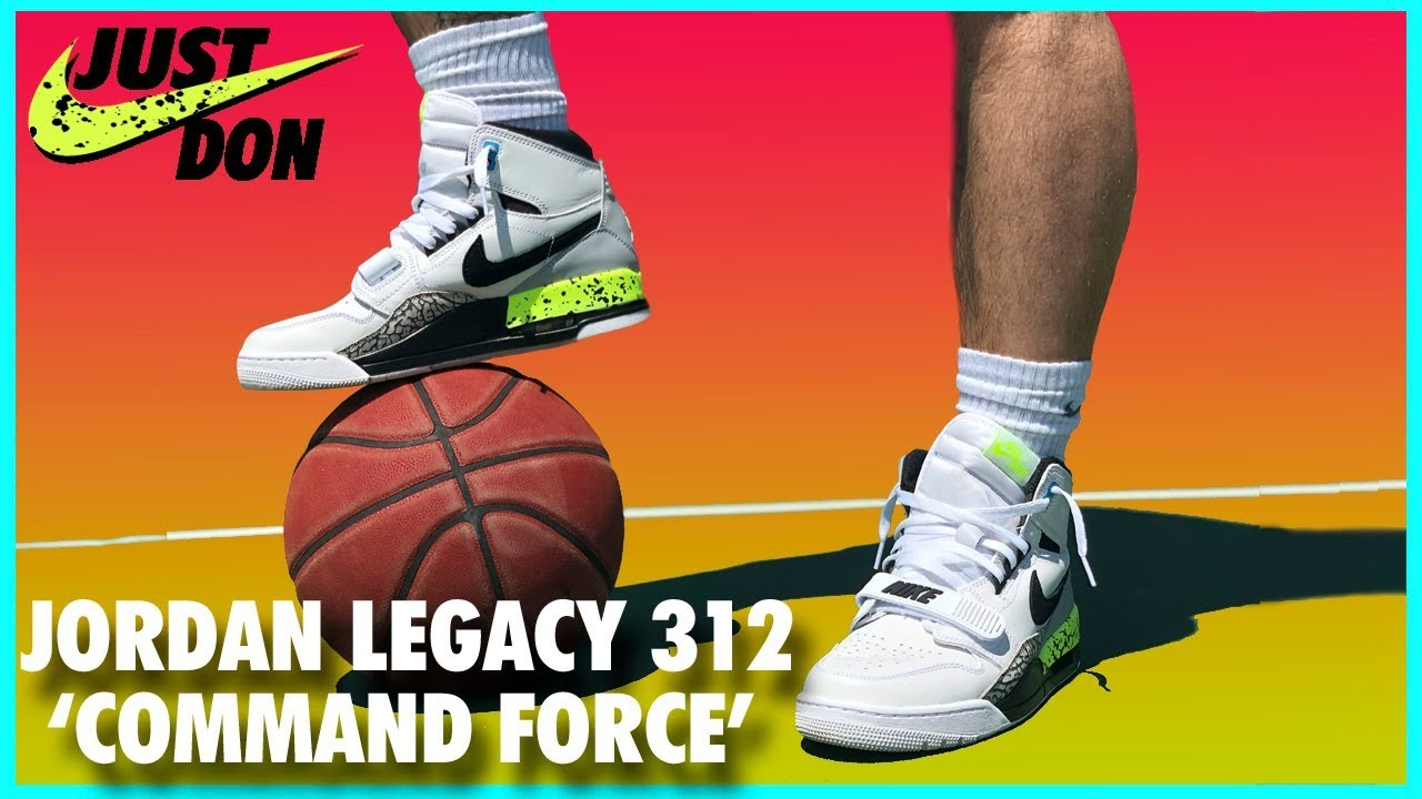 3932fe6af01 AIR JORDAN LEGACY 312  COMMAND FORCE  REVIEW - YouTube