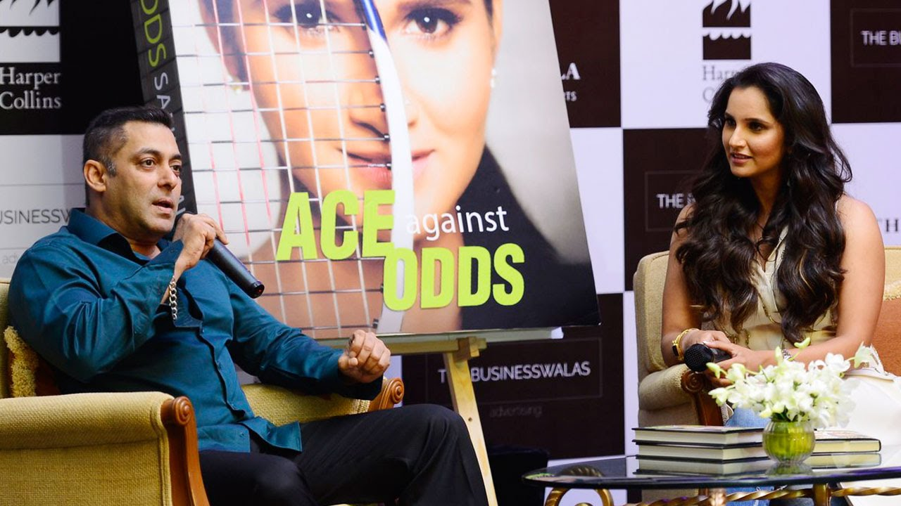 Salman Khan @ Sania Mirza Ace against Odds Book Launch