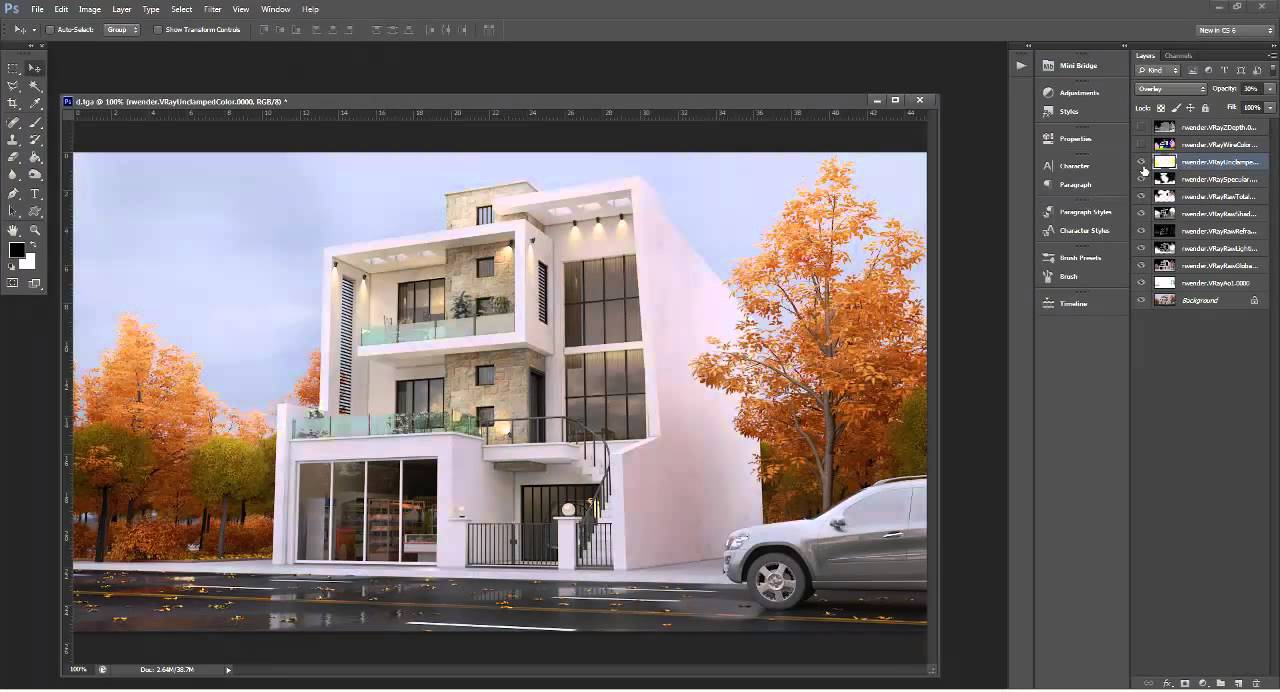 rendering and post production 3dsmax architectural