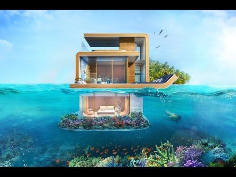 Floating Seahorse Villa Dubai فيلا تحت الماي في دبي سعرها١٢  مليون