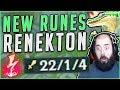 NEW RUNES ON RENEKTON MAKE HIM SO BROKEN! NEW SEASON 8 RENEKTON GAMEPLAY! - League of Legends
