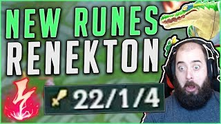 NEW RUNES ON RENEKTON MAKE HIM SO BROKEN! NEW SEASON 8 RENEKTON GAMEPLAY! - League of Legends