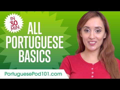 Learn Portuguese in 50 Minutes - ALL Basics Every Beginners Need