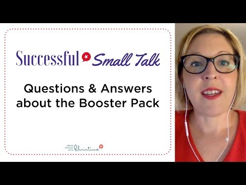 Booster Pack for Successful Small Talk: FAQs