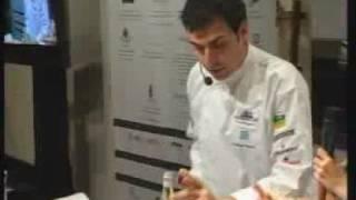 Potatoes Raviolis Stuffed With Blood Sausage By Masterchef Ramon Freixa