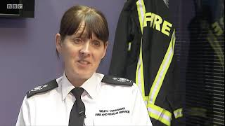 BBC Look North 1st January 2020  Alex Johnson is South Yorkshire's new Chief Fire Officer YouTube Videos