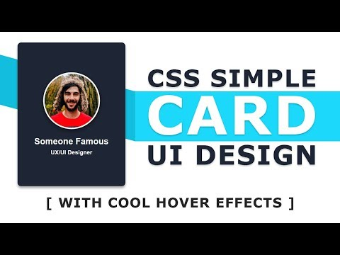 Cards UI Design With Cool Hover Effects - Html CSS User Card UI Design Tutorial