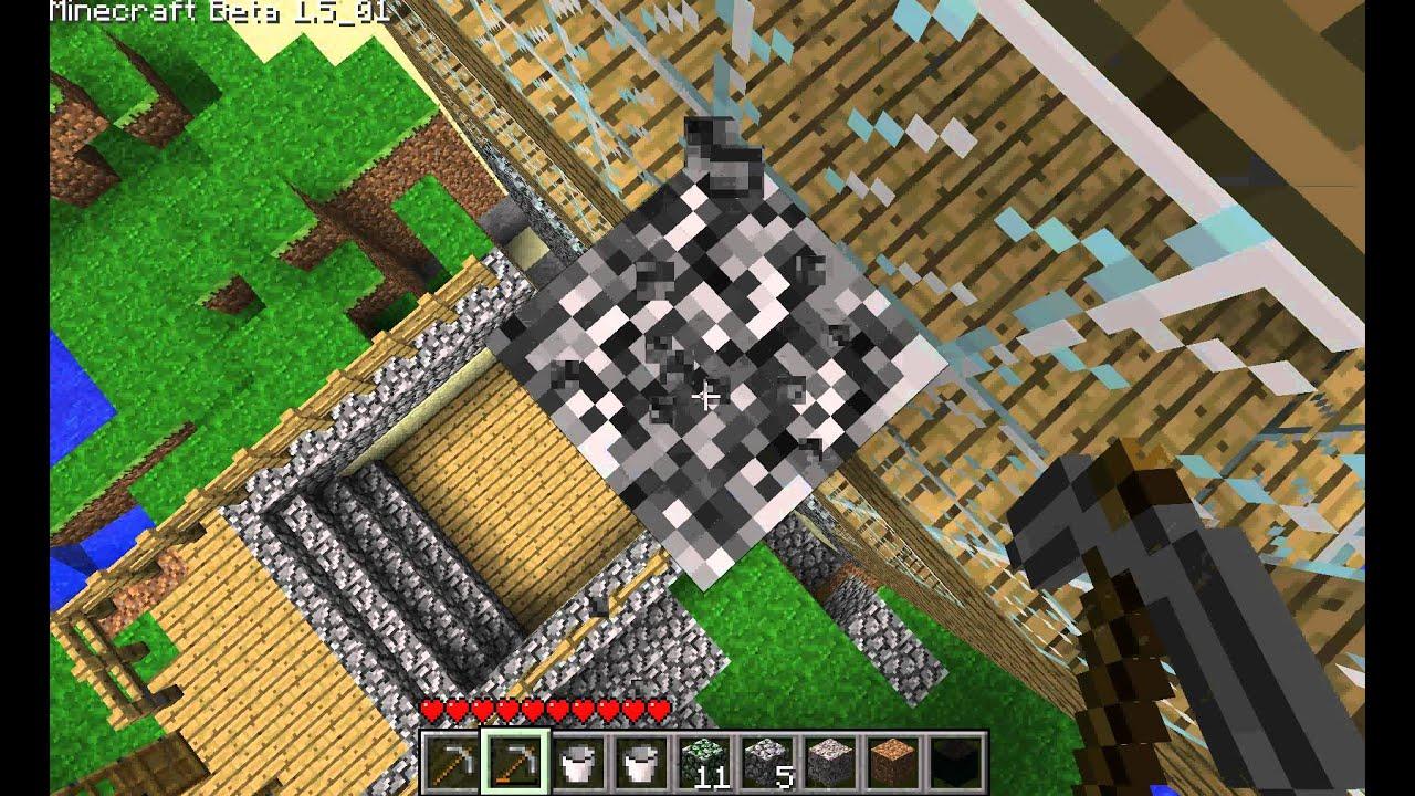 Minecraft comment mettre le feu a sa maison - YouTube