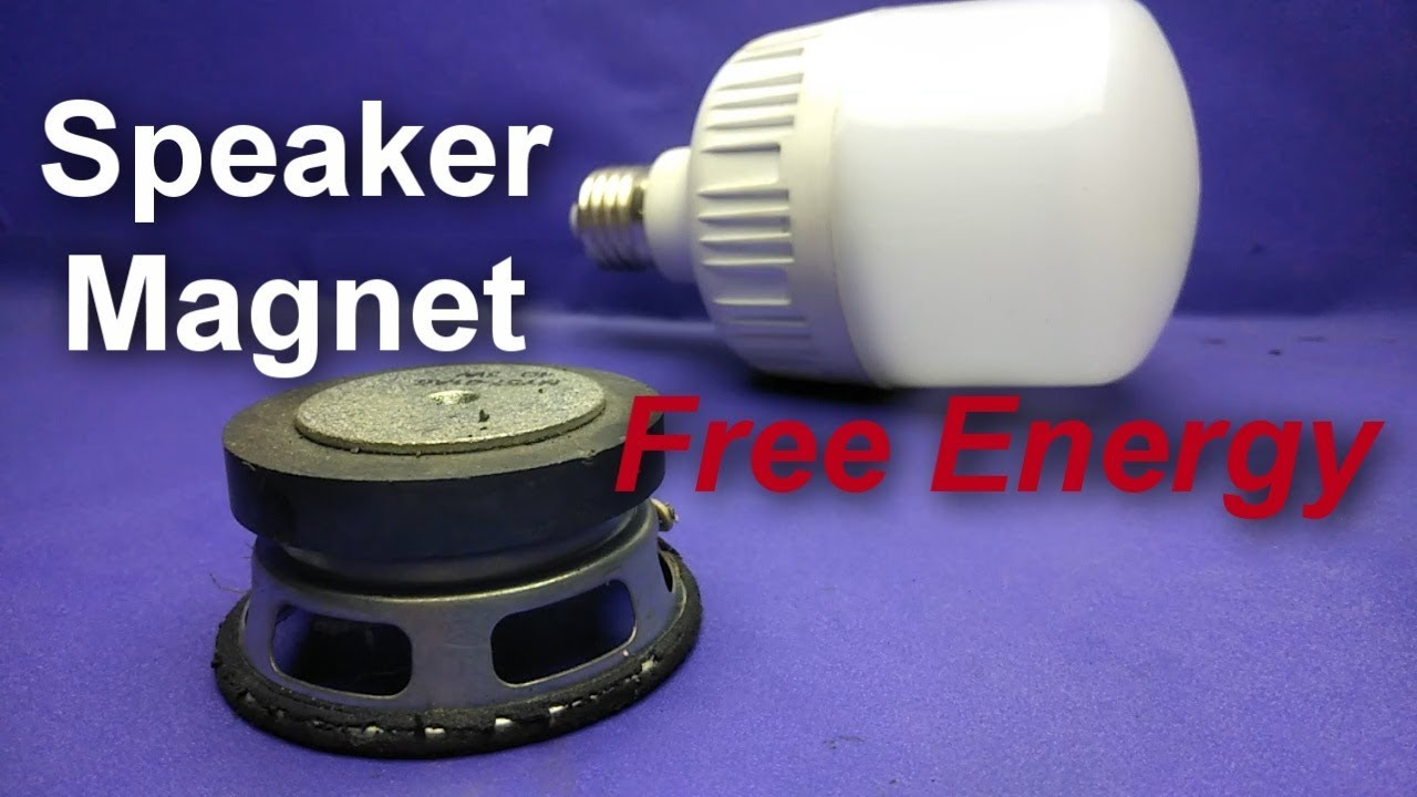 Free Energy speaker magnet LED light bulb 12V - awesome ...