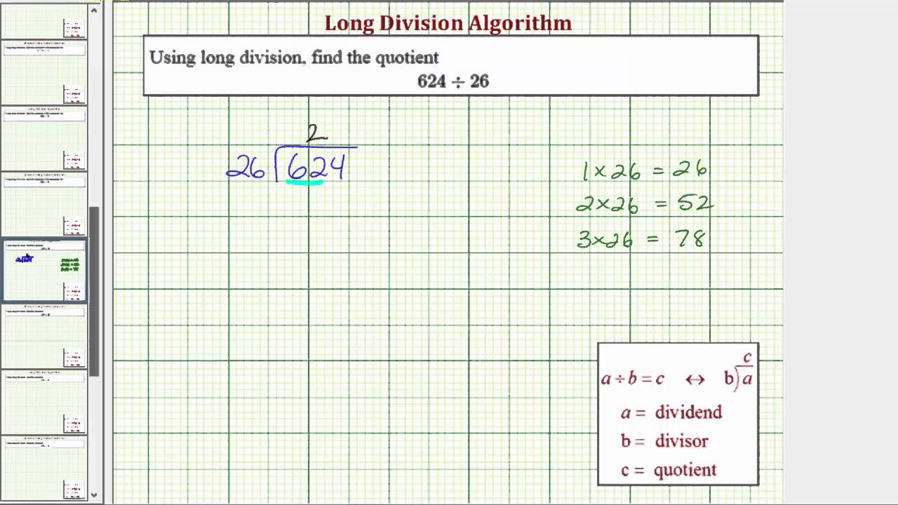 Ex Long Division 3 Digit Divided By 2 Digit No Remainder Youtube