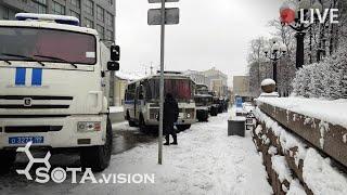 ПОЛИЦИЯ, АВТОЗАКИ! МОСКВА В ПОДДЕРЖКУ ХАБАРОВСКА. Пушкинская, 2 января 2021