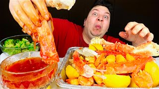 Eating Like Bloves • King Crab Legs With Blove's Sauce • MUKBANG