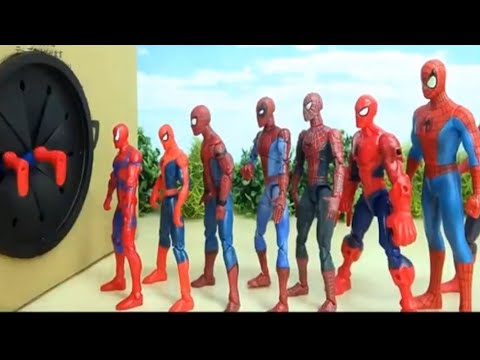 Download Various Spiderman go into Box in a row # 1