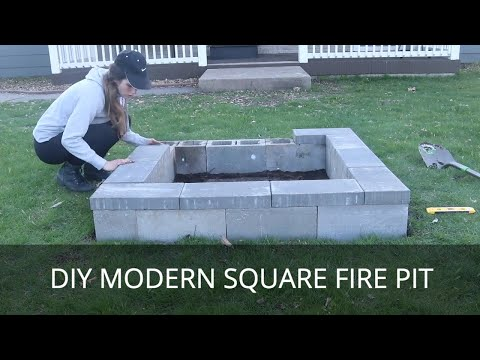 DIY Fire Pit | Modern Square Fire Ring | Easy Outside Project