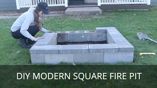 Gambar cover DIY Fire Pit | Modern Square Fire Ring | Easy Outside Project