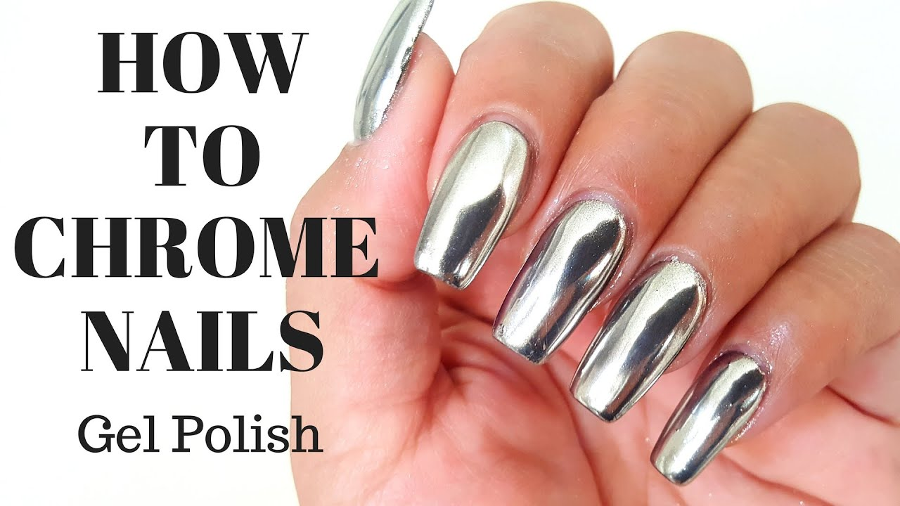 How To CHROME NAILS No Wipe Top Coat