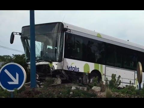 Vidéo : un bus Vitalis escalade un rond-point à Poitiers