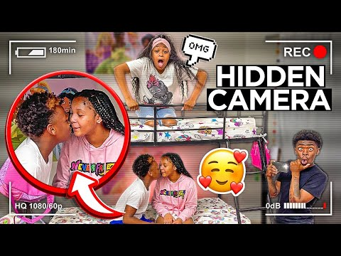 WE PUT A HIDDEN CAMERA IN THE ROOM WITH ASIA & AARON!! (CAUGHT KISSING) |