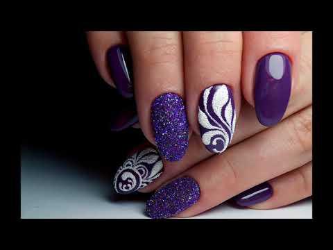 Фиолетовый цвет дизайн ногтей фото