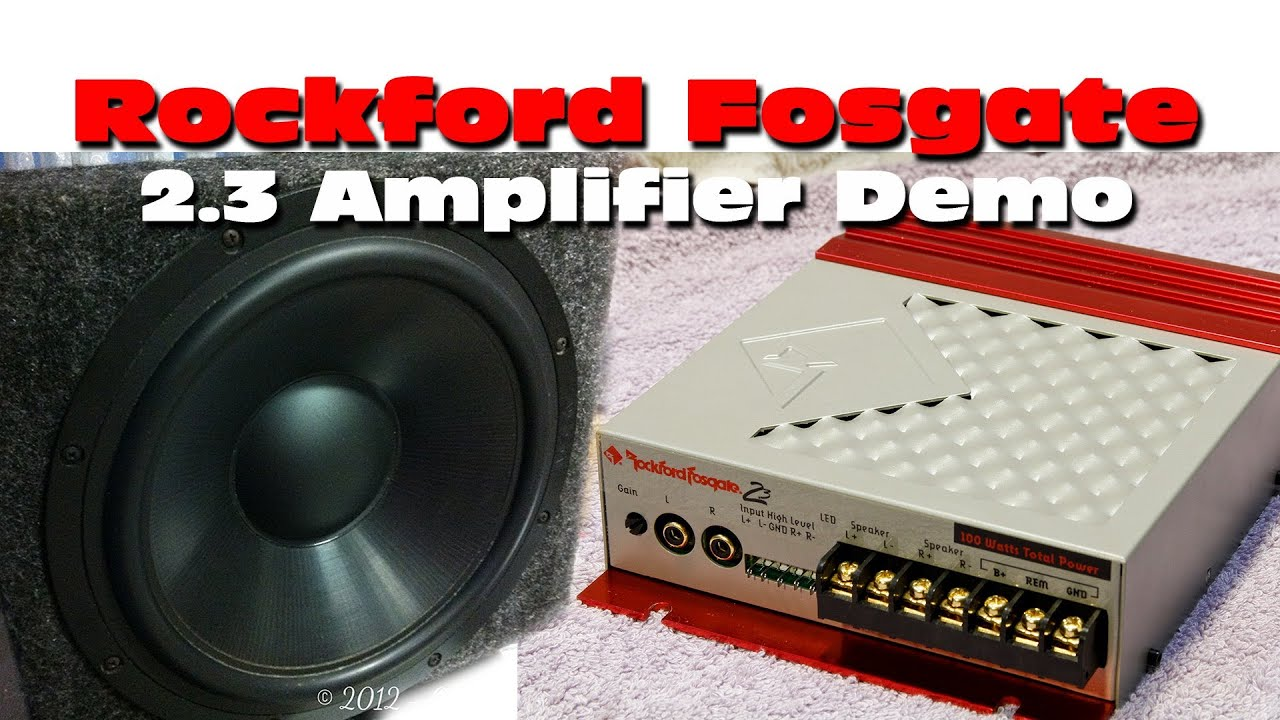 Rockford Fosgate 2 3 Amplifier - Overview and Demo Old School Car Audio
