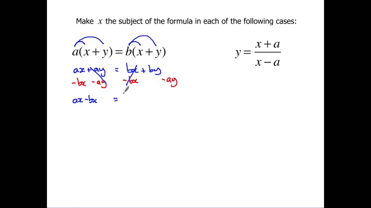 worksheet Rearranging level 2 further maths gcse rearranging formulae youtube formulae