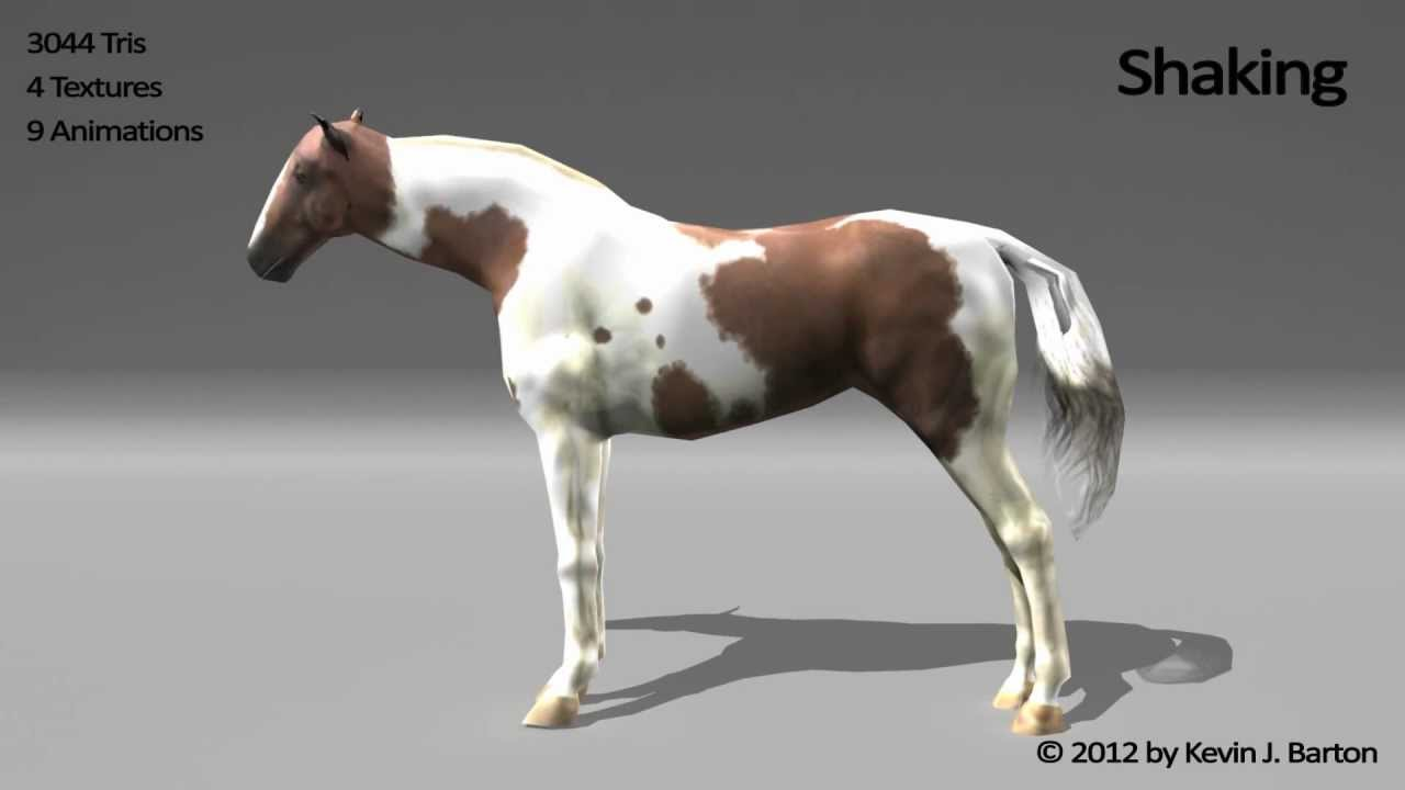 3d Model Of A Horse With Animations