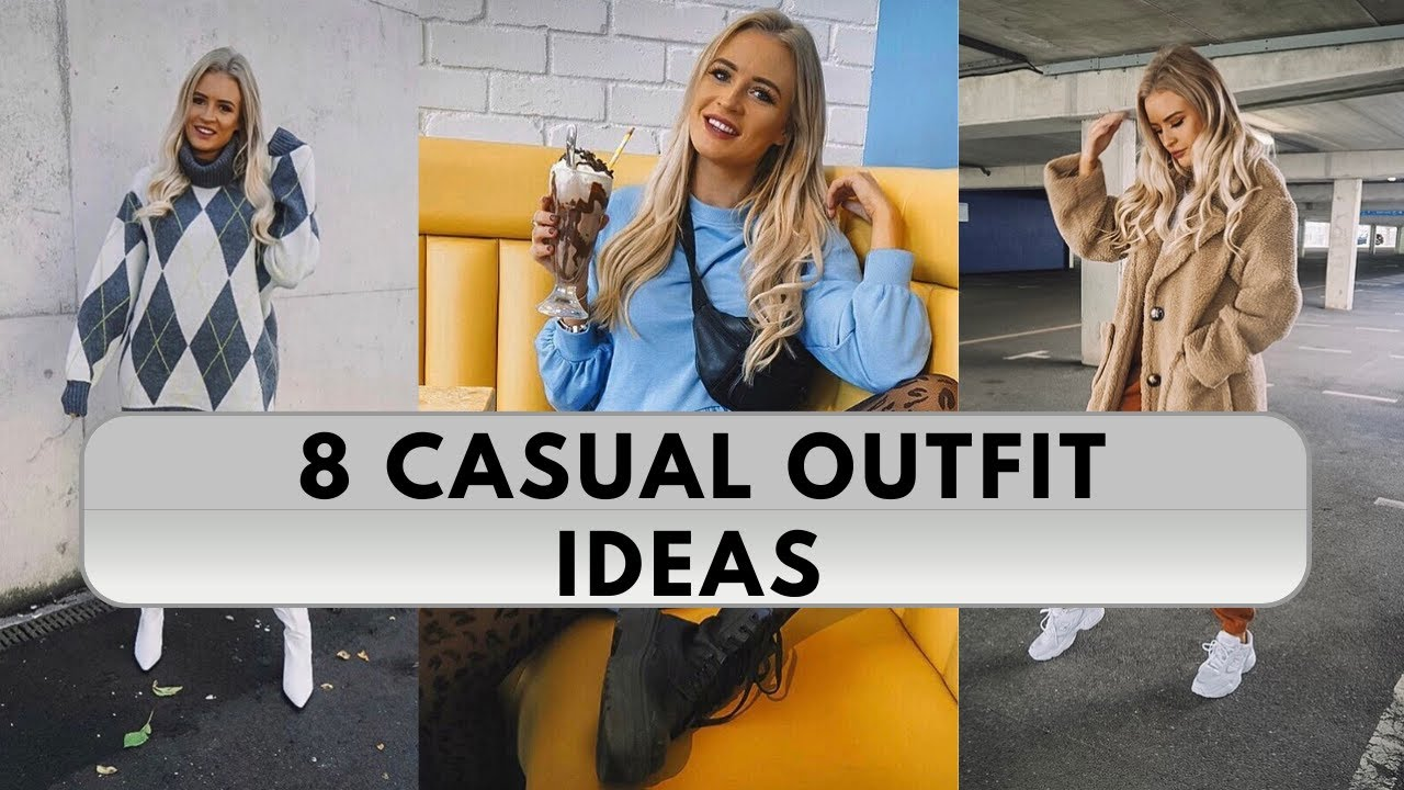 [VIDEO] - 8 CASUAL EVERYDAY OUTFIT IDEAS! A/W TOPSHOP, MISSGUIDED, ASOS, H&M, PLT   HELENA CRITCHLEY 8