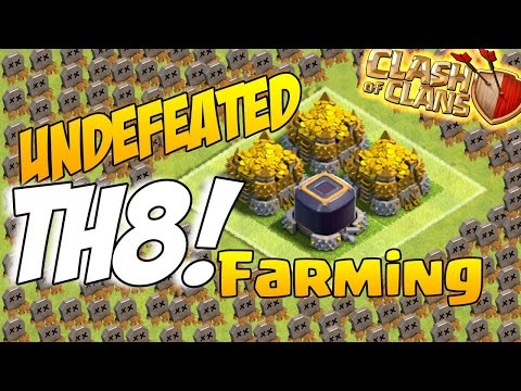 Town Hall 8 (TH8) Farming Base With Replays - Protect Town Hall And Storages
