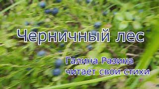 Черника, свои стихи читает Галина Разина