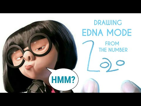 HOW TO DRAW EDNA MODE FROM THE NUMBER 2020 - 2020 TRENDS