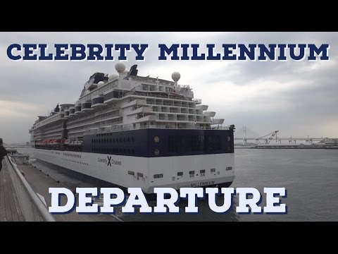 Celebrity Millennium Departs Port of Yokohama Japan