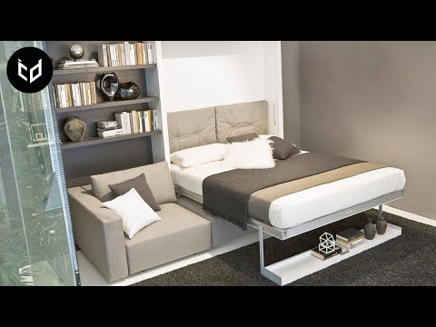 INCREDIBLE Space Saving Furniture - Murphy Bed Ideas | Part 2
