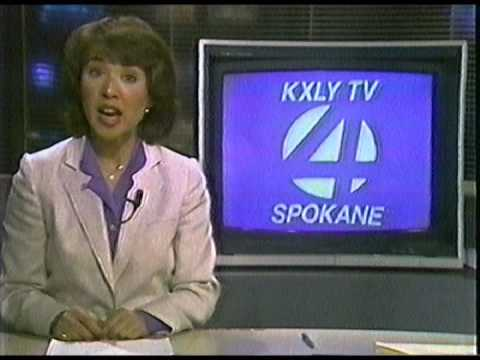 1985 KXLY TV News Break with Marianne Mishima