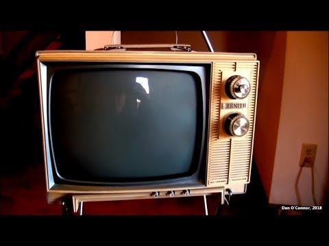 "1965 Zenith 12"" B&W Tube Television"