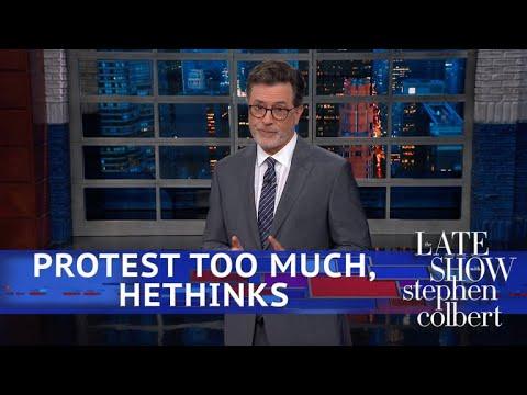 Trump Rebukes 'Embarrassing' Protestors At Kavanaugh's Hearing