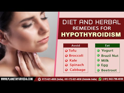 Diet and Herbal Remedies for Hypothyroidism